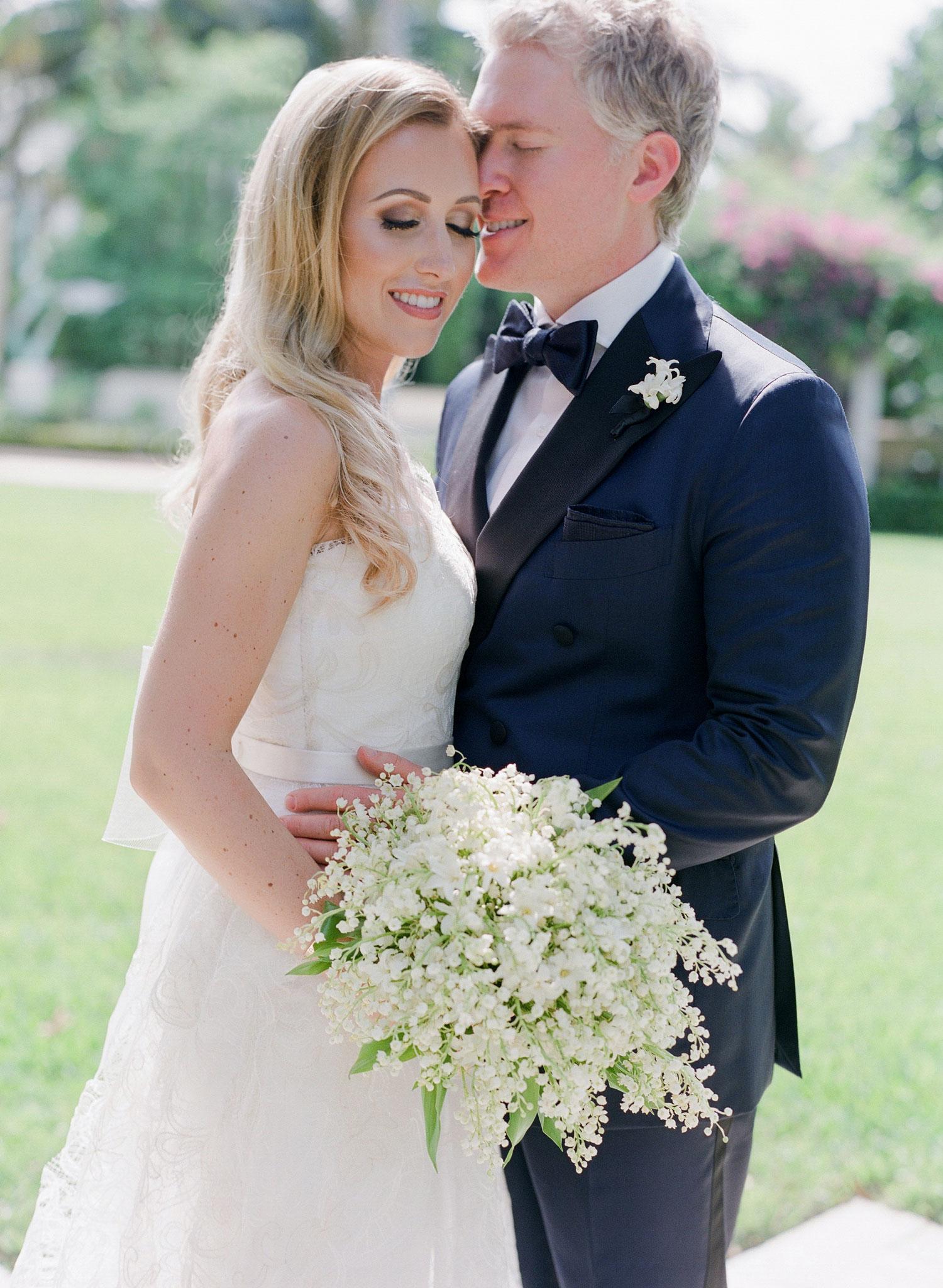 wedding photo portrait of bride and groom classic wedding palm beach