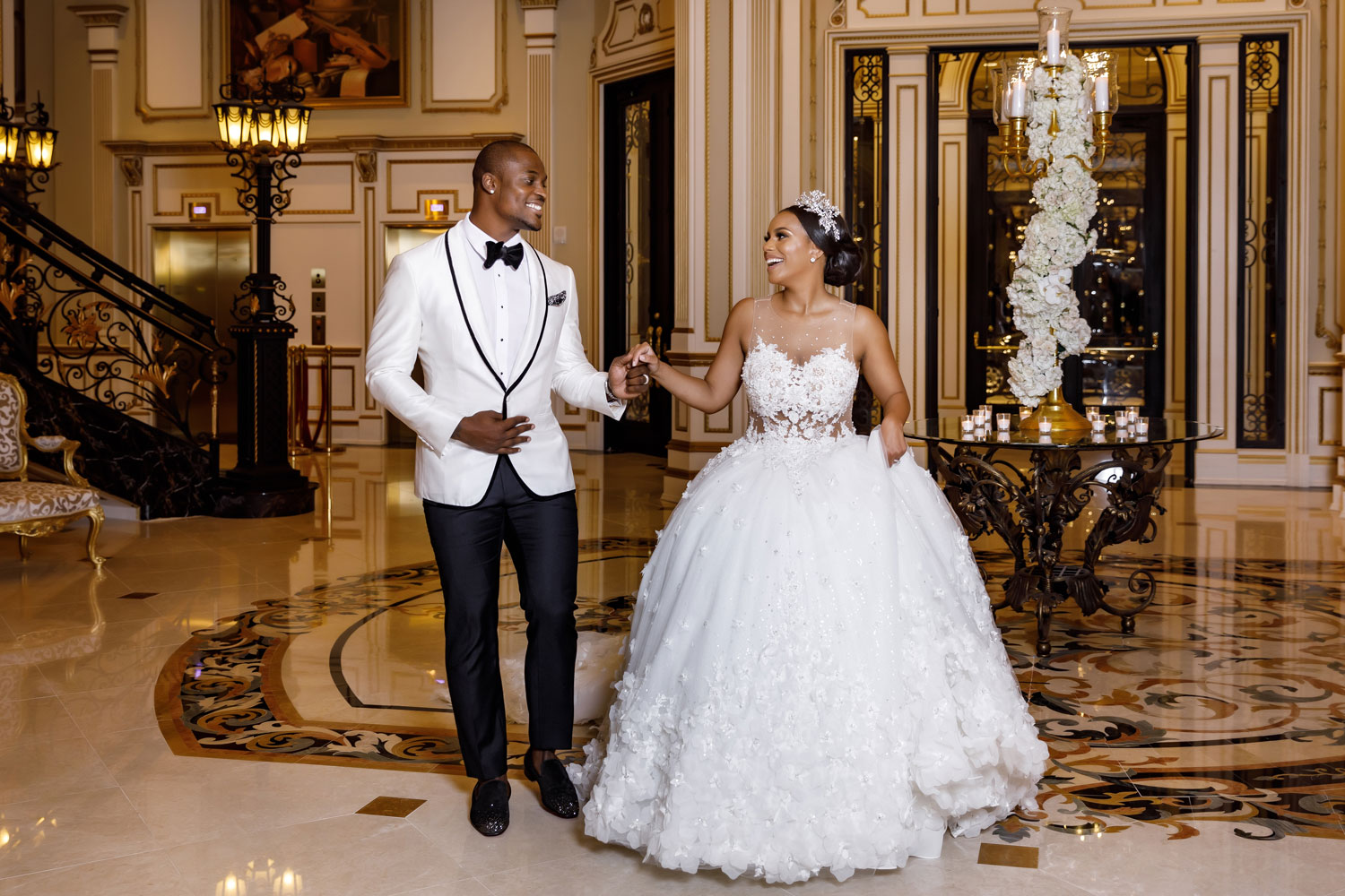 tahir whitehead nfl wedding at castle in new york
