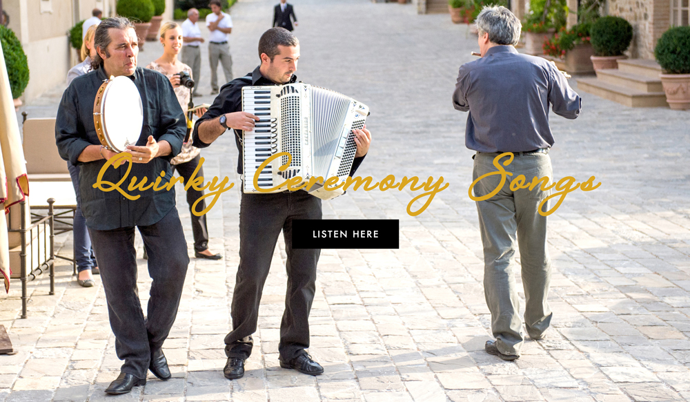 Typical Wedding Ceremony Songs: Wedding Songs: Non-Traditional Music For Your Ceremony
