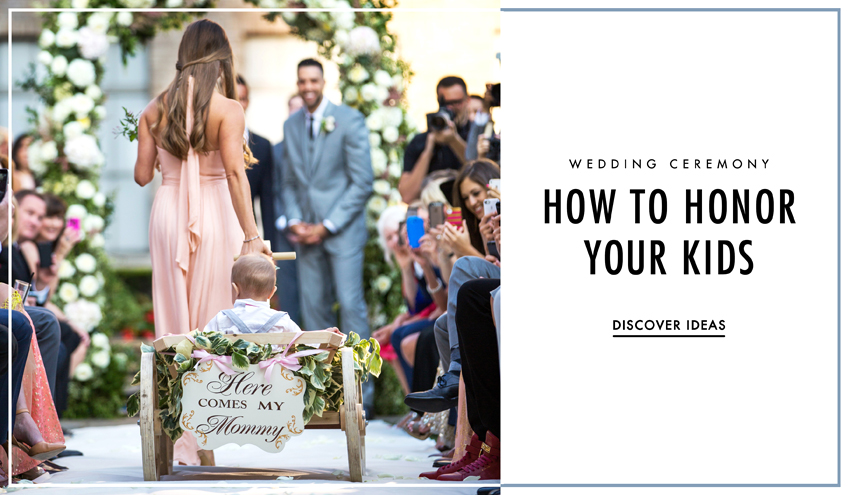 Kids In Weddings How To Honor Your Children In The