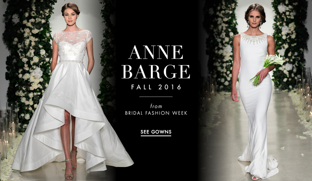 Wedding Gowns 2016: Wedding Dresses: Anne Barge Fall 2016 Bridal Collection