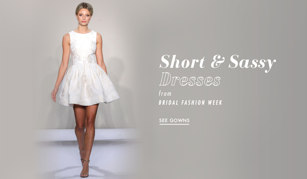a6e60b5891c Casual Wedding Dresses  12 Short Gowns From Bridal Fashion Week - Inside  Weddings