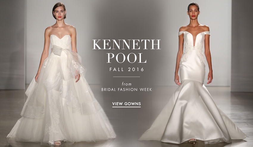 Wedding Dresses: Kenneth Pool Fall 2016 Bridal Collection - Inside ...