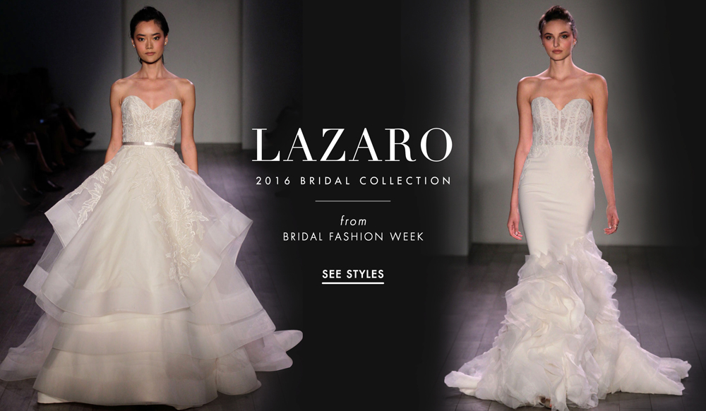 Lazaro wedding dresses spring 2016 bridal collection for Modern wedding dresses 2016