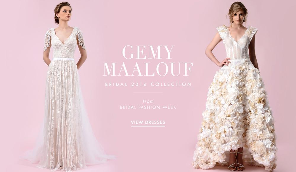 5898ede772 Wedding Dresses  Gemy Malouf 2016 Bridal Collection - Inside Weddings