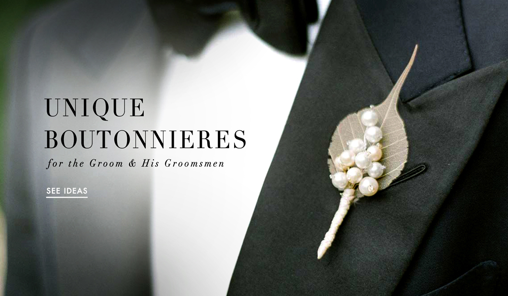 Wedding flower ideas unique grooms boutonnieres inside weddings junglespirit Image collections