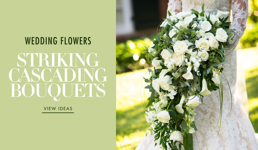 Wedding Flowers Gorgeous Full Cascading Bridal Bouquets Inside