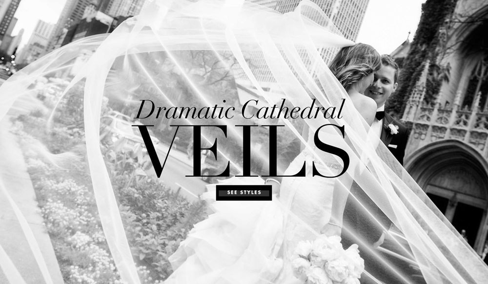 Wedding Accessories: 7 Dramatic Cathedral Veil Styles