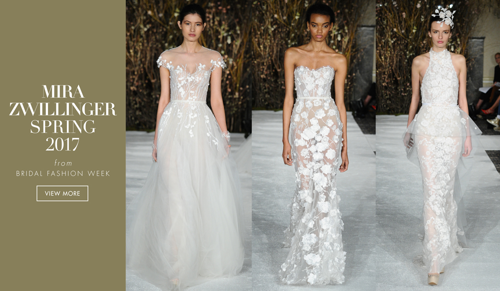 See nature inspired wedding dresses from mira zwillinger for Nature inspired wedding dresses