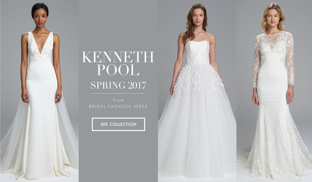 Sleek and Dramatic Wedding Dresses from Kenneth Pool Spring 2017 ...