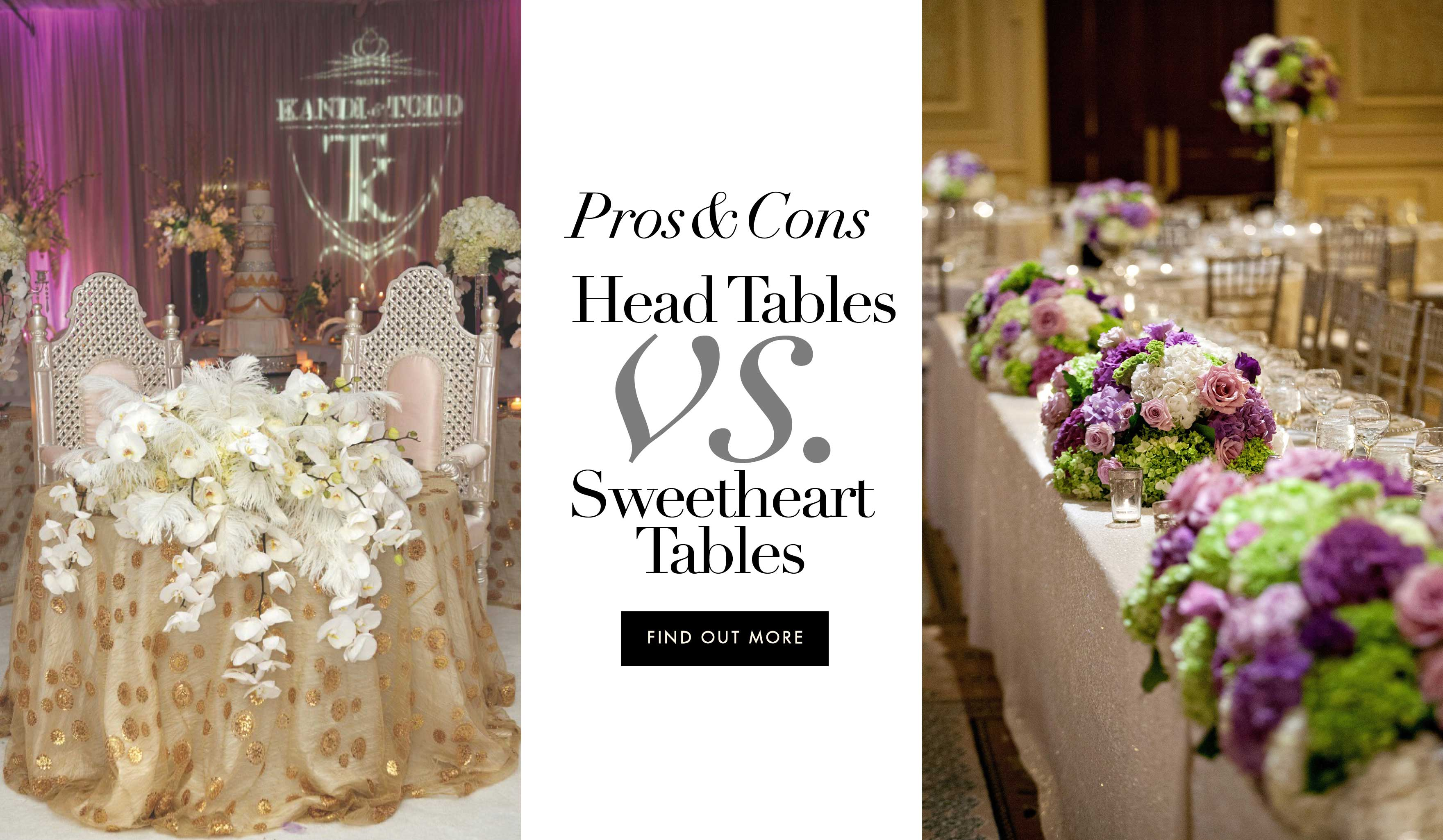 should you have a head table or a sweetheart table at your reception