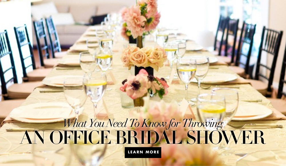 how to throw an office bridal shower inside weddings