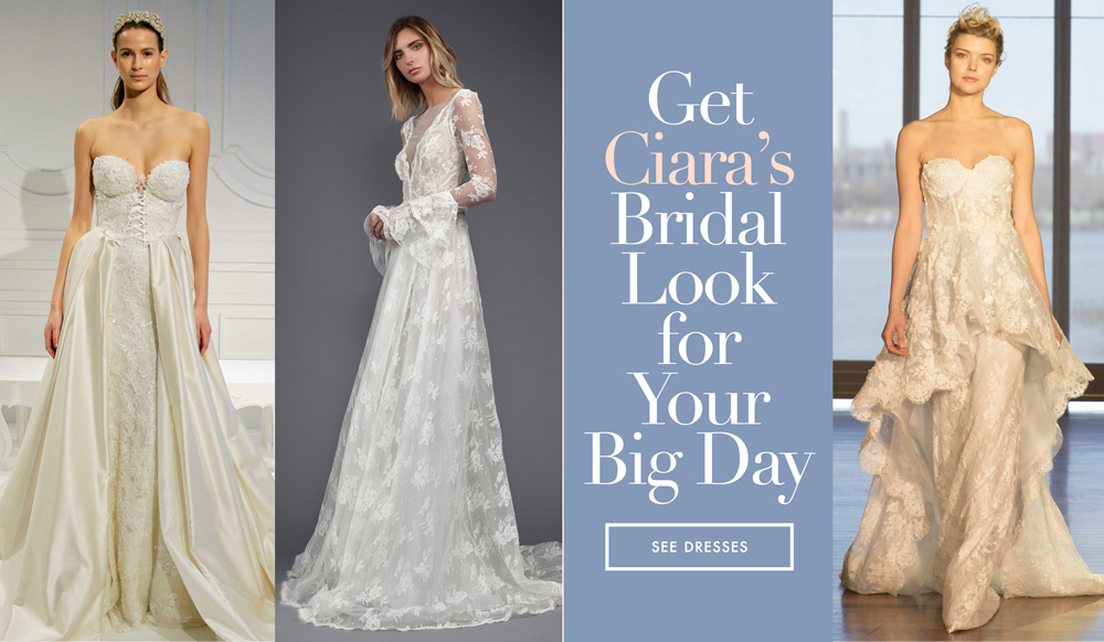 fccad9648cd3a Get the Bridal Look of Ciara with These Similar Wedding Dresses - Inside  Weddings