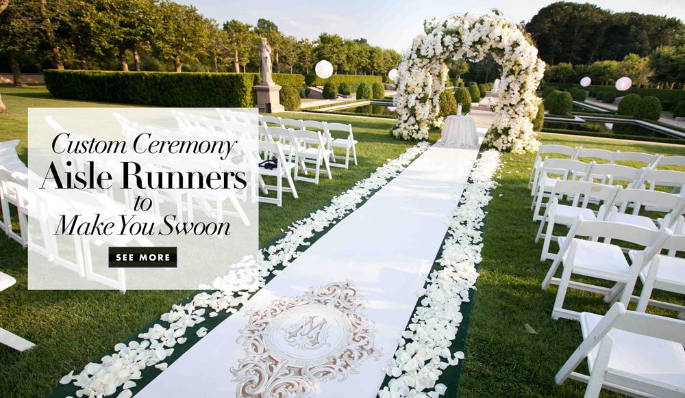Custom Aisle Runner Designs for Your Wedding Ceremony - Inside Weddings