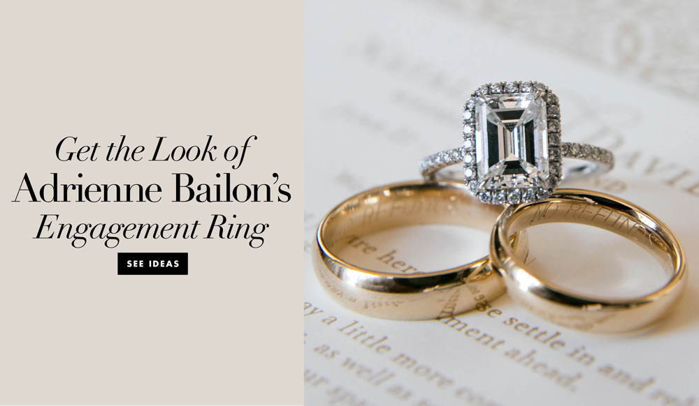 Get the look of adrienne bailon s engagement ring inside weddings