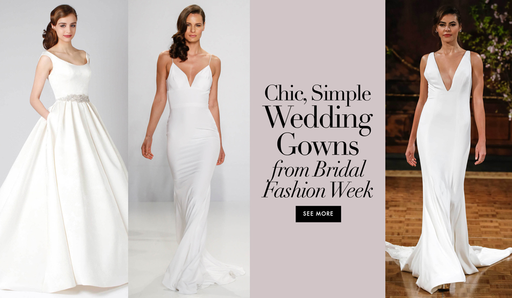 Wedding Gown Styles: Simple Wedding Dresses: Classic Designer Bridal Gown