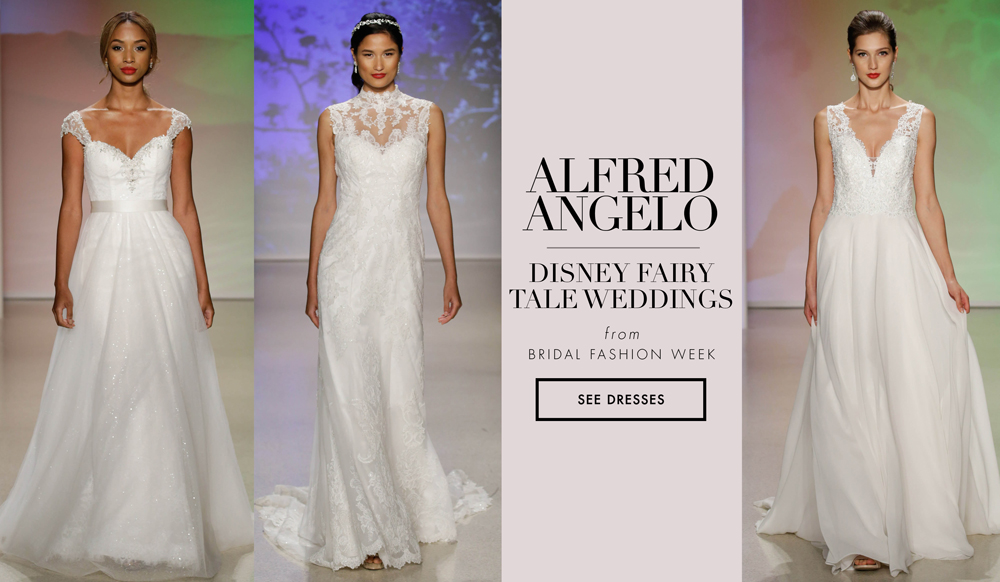 Bridal week wedding dresses from alfred angelo disney for Disney inspired wedding dresses 2017