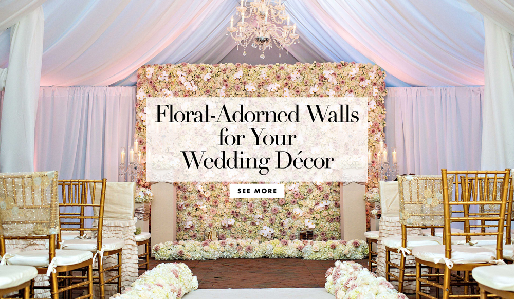 Flower and plant walls for rustic chic wedding d 233 cor inside