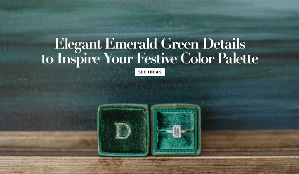 Wedding Color Palette Ideas Dark Green Emerald Inside Weddings