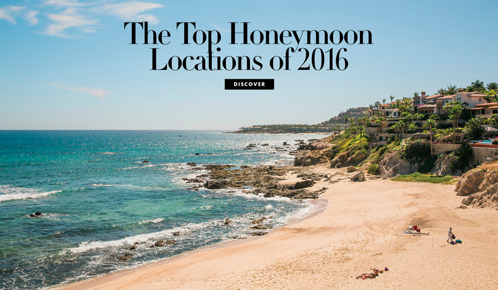 The Top Honeymoon Locations Of 2016