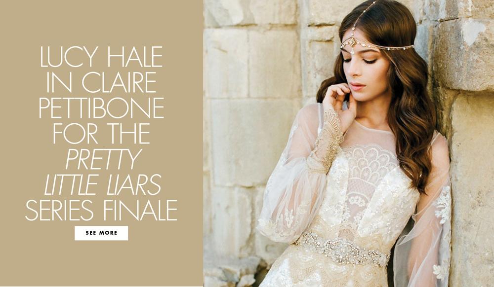 Lucy Hale\'s Aria Montgomery Wears Claire Pettibone to Her TV Wedding ...