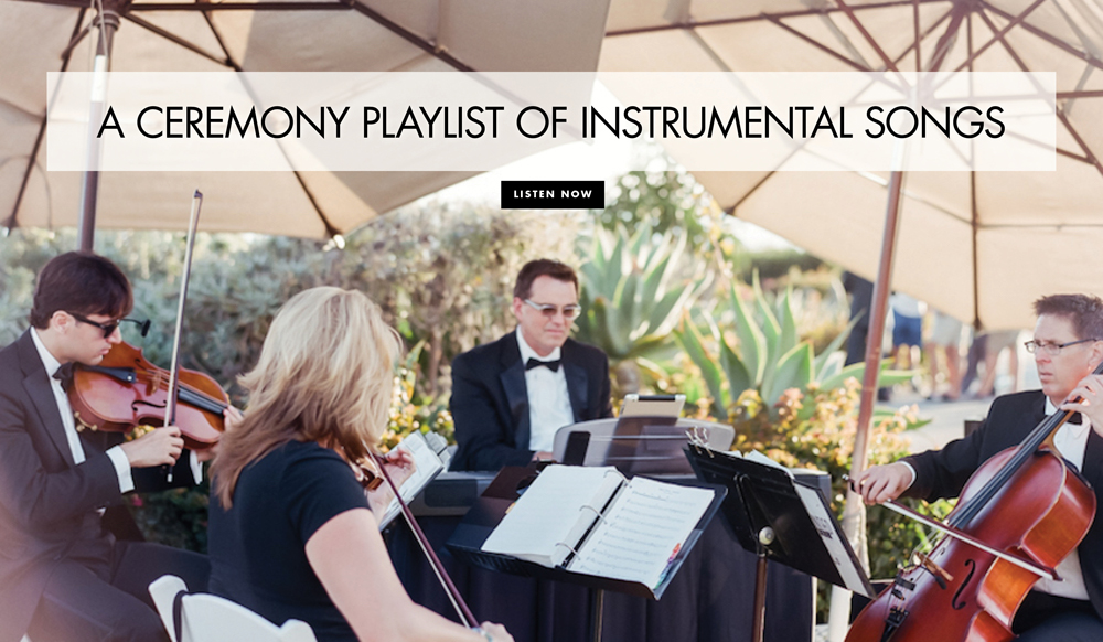 A Modern Ceremony Playlist Of Instrumental Pop Music Songs