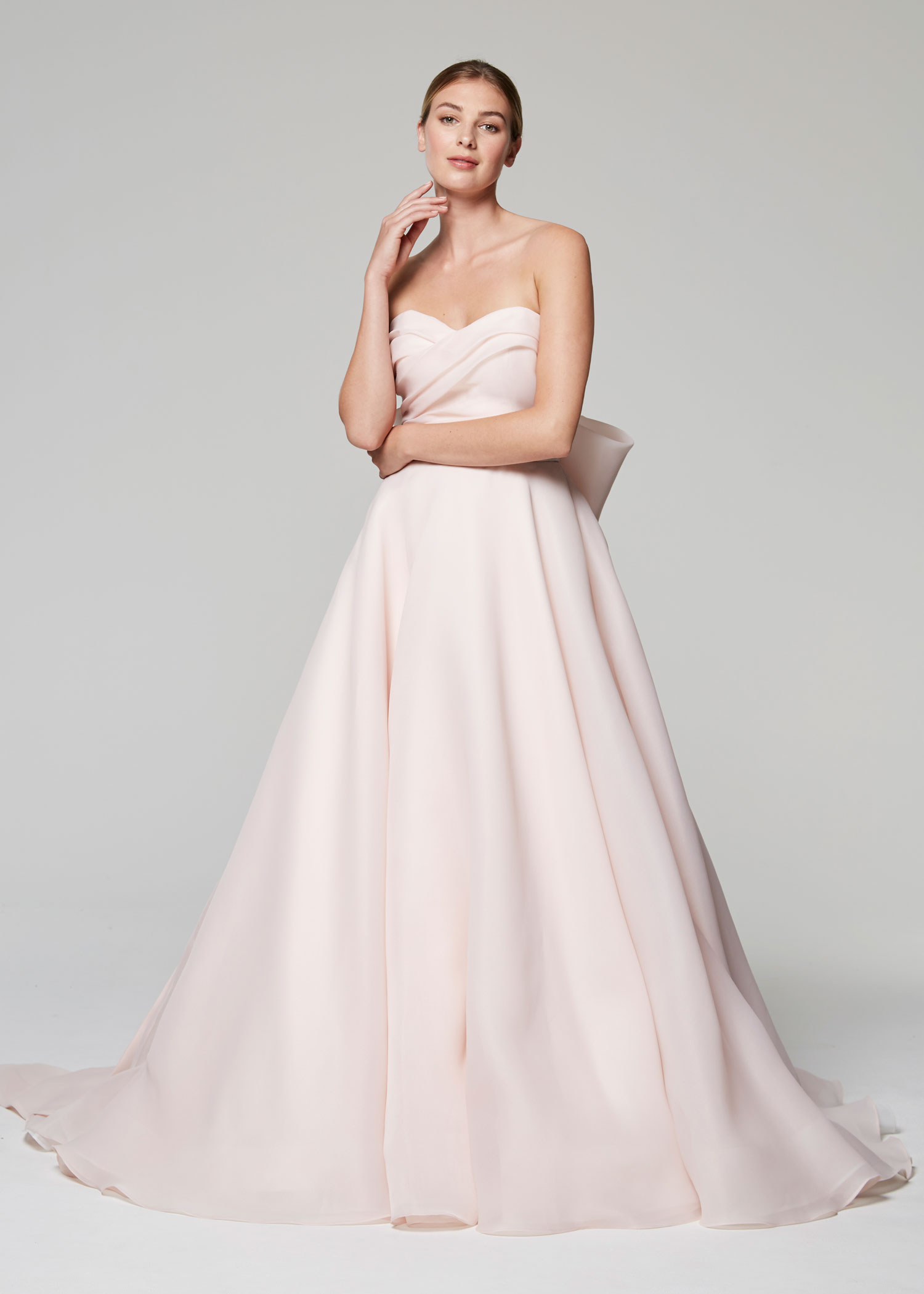 90f5f5c66b8a Anne Barge Blue Willow Bride Fall 2018 collection sweetheart gazar gown  with bow