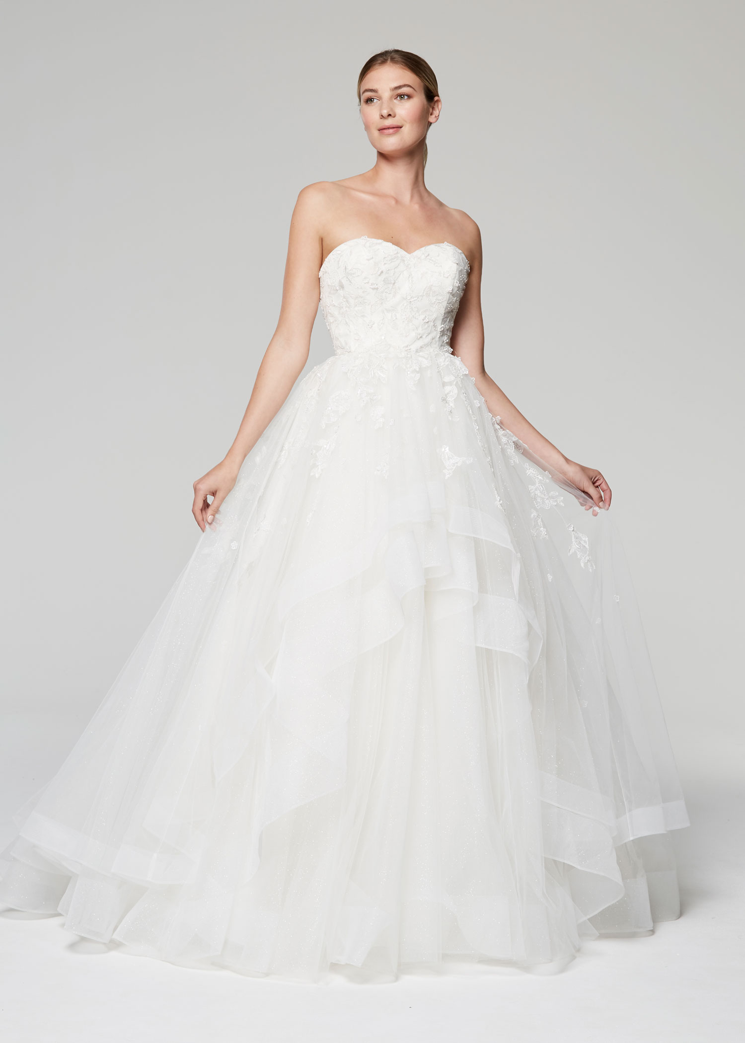 b37ace299414 Anne Barge Blue Willow Bride Fall 2018 collection strapless sweetheart  tulle gown with beading