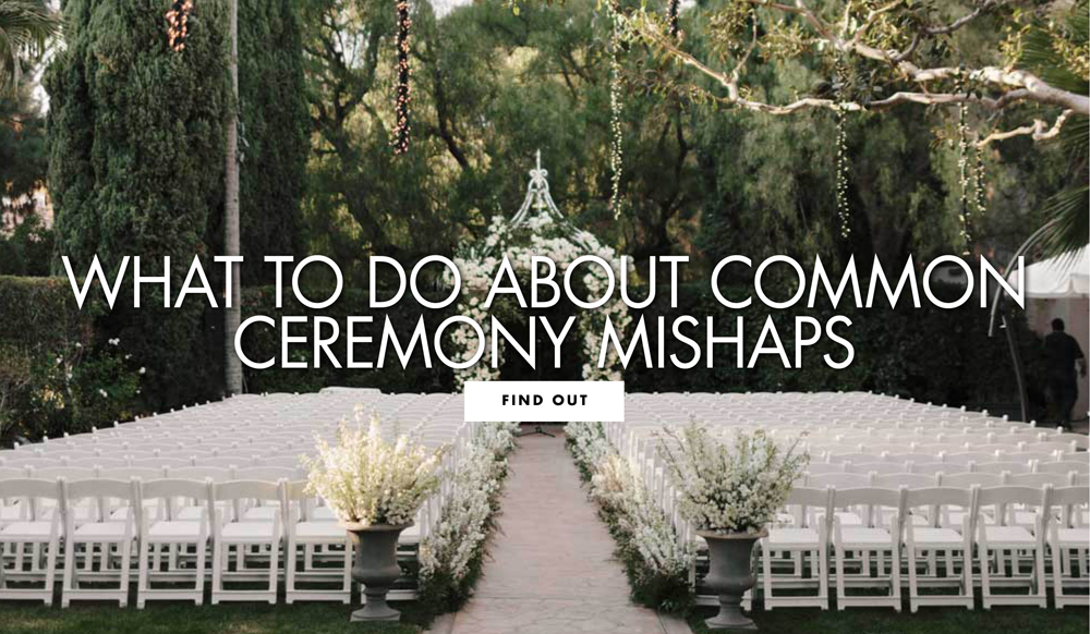 How to Fix Minor Mistakes at Your Wedding Ceremony
