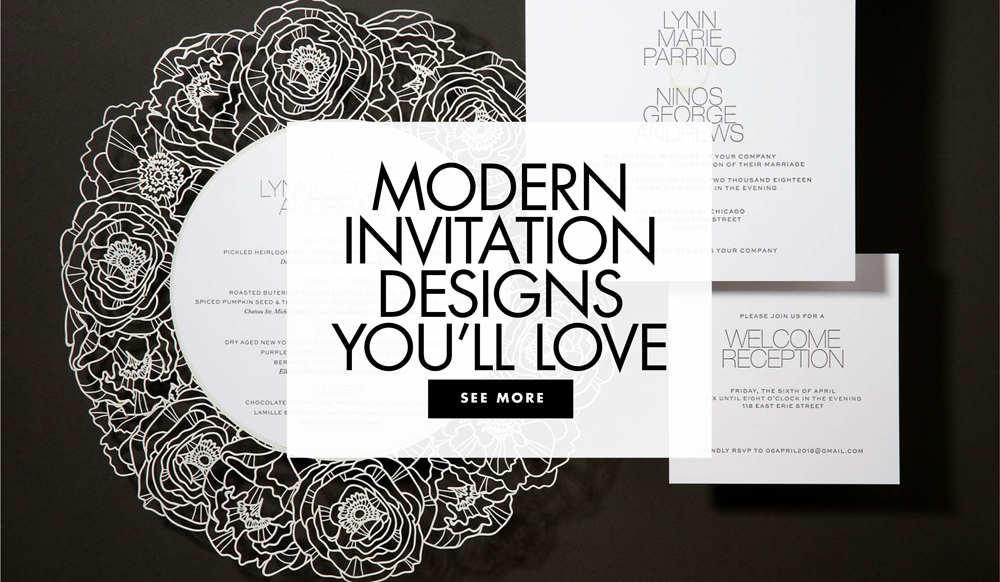 Wedding Ideas: Modern Wedding Invitation Styles - Inside Weddings